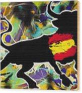 Spanish Heart Wood Print