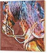Spanish Horse Wood Print
