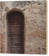 Spanish Mission Doorway Wood Print