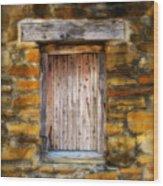 Spanish Mission Window Wood Print