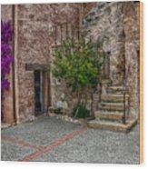 Spanish Mission's Back Entrance.  Wood Print