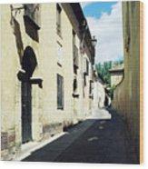 Spanish Narrow Street Wood Print