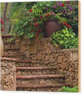 Spanish Retreat Wood Print