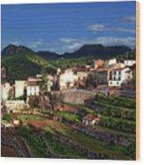 Spanish Terraces Wood Print