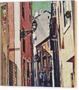 Spanish Town Wood Print