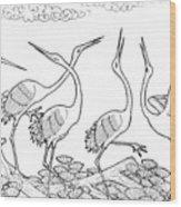 Spare Crane Wood Print