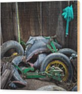 Spare Tires A-plenty Wood Print