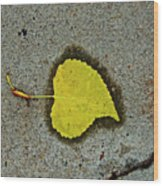 Spared Heart And Its All Yellow Wood Print