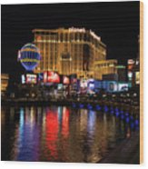 Sparkling Las Vegas Neon - Planet Hollywood Wood Print