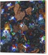 Sparkling Leaves Wood Print