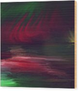 Sparkling Night Of The Aurora Borealis Wood Print
