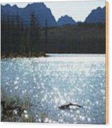 Sparkling Redfish Lake Wood Print