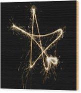Sparkling Star Wood Print