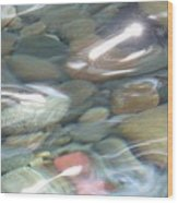 Sparkling Water On Rocky Creek 2 Wood Print