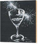 Sparkling Wine  Wood Print