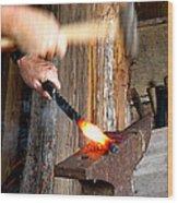 Sparks A Flyin' Wood Print