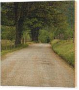 Sparks Lane - Cades Cove Wood Print