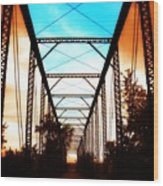 Sparksville Bridge Wood Print