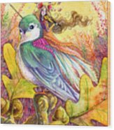 Sparrow's Song Wood Print