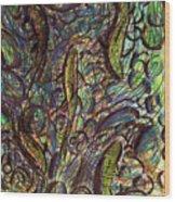 Spawning In Pastel Wood Print