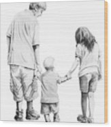 Special Children Wood Print