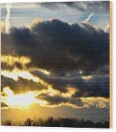 Spectacular Sunrise In Clouds Wood Print