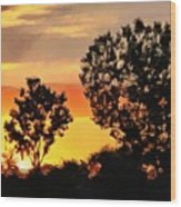 Spectacular Sunset In The Midwest Wood Print