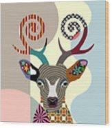 Spectrum Deer Wood Print
