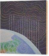 Spectrum Earth Spacescape Wood Print