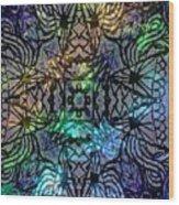 Spectrum Grid Wood Print