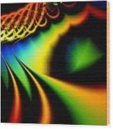 Spectrum Path Wood Print