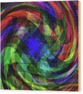 Spectrum Swirls Wood Print