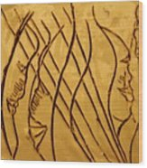 Speech Trails - Tile Wood Print