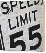 Speed Limit Wood Print
