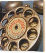 Speed Phone Wood Print