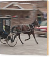 Speeding 3271 Wood Print by Guy Whiteley