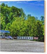 Speedway Diner Wood Print