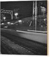 Speedy Train At Kings Cross Wood Print