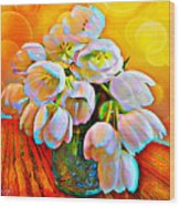 Spektrel Flowers Wood Print