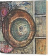 Spheres Abstract Wood Print