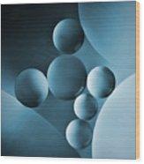 Spheres Wood Print by Elena Nosyreva