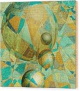 Spheres Of Life's Changes Wood Print