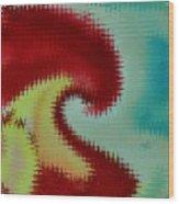 Spherical Colours Wood Print