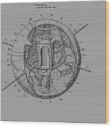 Spherical Satellite Structure Patent 1957 Wood Print