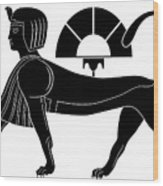 Sphinx - Mythical Creatures Of Ancient Egypt Wood Print