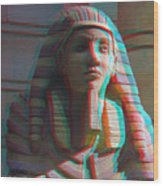 Sphinx - Use Red-cyan 3d Glasses Wood Print