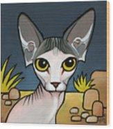 Sphinx Cat Wood Print