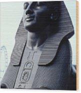 Sphinx In London Wood Print