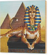 Sphinx On Plinth Wood Print