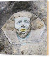 Sphinx - Rock Sculpture Wood Print